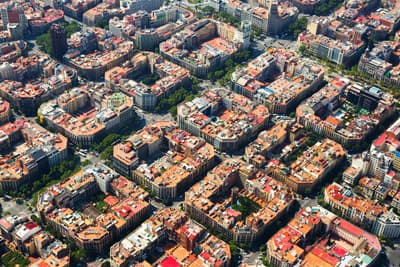 Luftbild Eixample District Barcelona