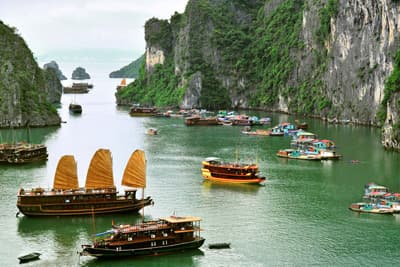 Die Ha-Long Bucht in Vietnam