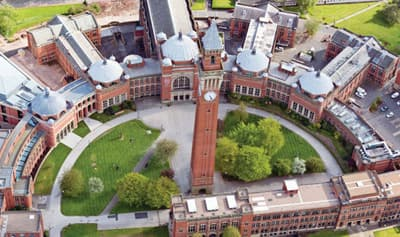 Campus der University of Birmingham