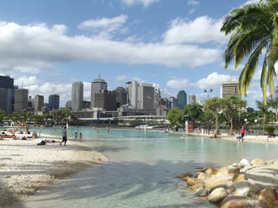 Streets Beach in Brisbane (Australien)