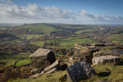 Landschaft des Peak District Nationalpoarks
