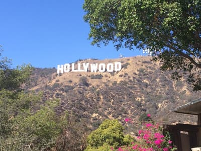 Hollywood Sign in Los Angeles (USA)