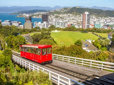 Ein Cable Car in Wellington