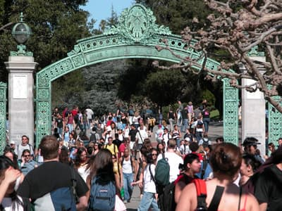 Campus der UC Berkeley im Summer