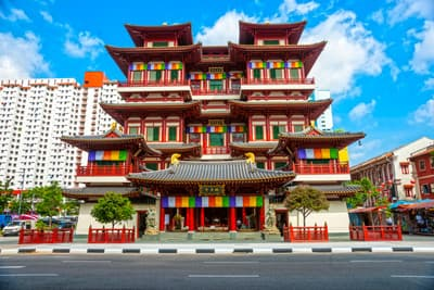Buddha Tooth Relic Temple in Singapur