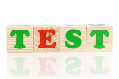 Auf Holzklotzchen Steht Das Wort Test