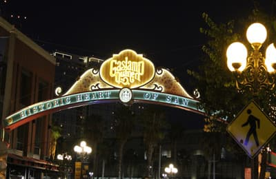 Gaslamp Quarter in San Diego (USA)