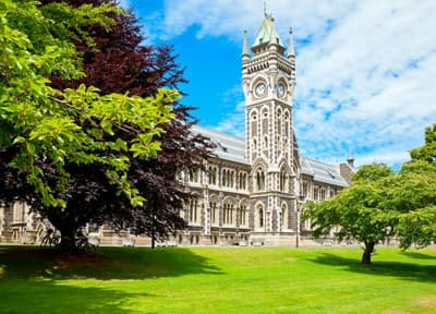 Grüner Campus der University of Otago