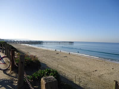 Pacific Beach mit Crystal Pier (San Diego, USA)