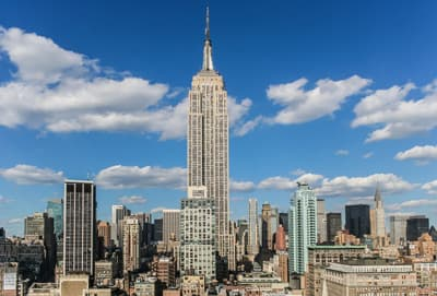 Das Empire State Building in New York City