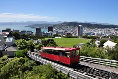 Skyline der Stadt Wellington in Neuseeland