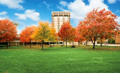 Der Campus der Brock University im Indian Summer